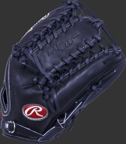 Thumb of a black Pro Preferred 12.75 in outfield glove with a black Trap-Eze web - SKU: PROS601KBPRO