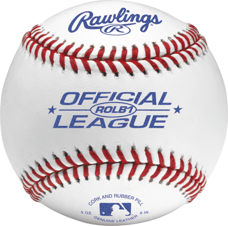 ROLB1 Official League youth competition grade baseball with raised seams