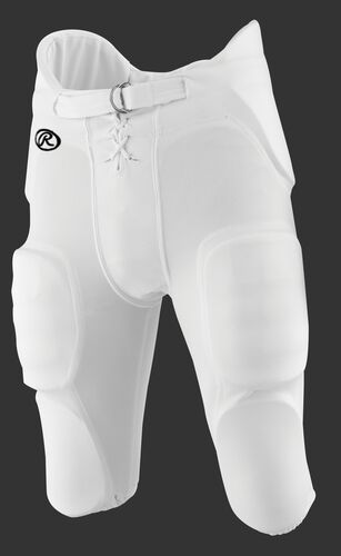 Front of Rawlings White Adult Integrated Football Pant - SKU #F3500P