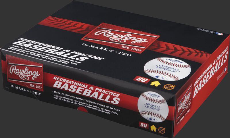 Team pack box of 8U Recreational baseballs