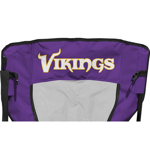 Back of Rawlings Purple and Yellow NFL Minnesota Vikings High Back Chair With Team Name SKU #09211075518
