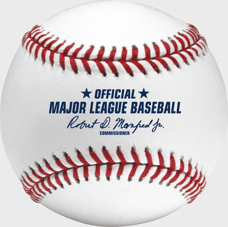 Official ball of Major League Baseball stamp on a Hall of Fame baseball - SKU: ROMLBHOF