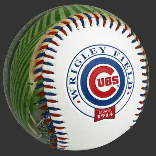 Chicago Cubs team logo on a MLB stadium baseball