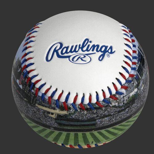 Rawlings logo on a Chicago Cubs team stadium ball