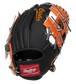 Back of a black/orange Baltimore Orioles 10-Inch I-web glove with a red Rawlings patch - SKU: 22000018111 image number null