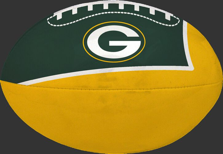 Green and Yellow NFL Green Bay Packers Football With Team Logo SKU #07831068114