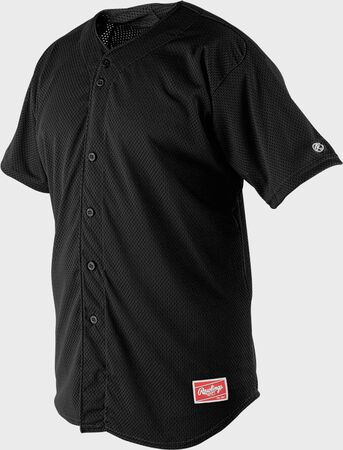 Rawlings Mesh Button Front Short Sleeve Jersey | Adult & Youth