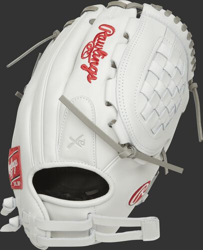 RLA120-3WG 12-inch Liberty Advanced infield/pitcher's softball glove with a white back and Pull-Strap design