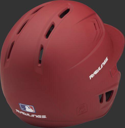 Coolflo High School/College Matte Batting Helmet Scarlet