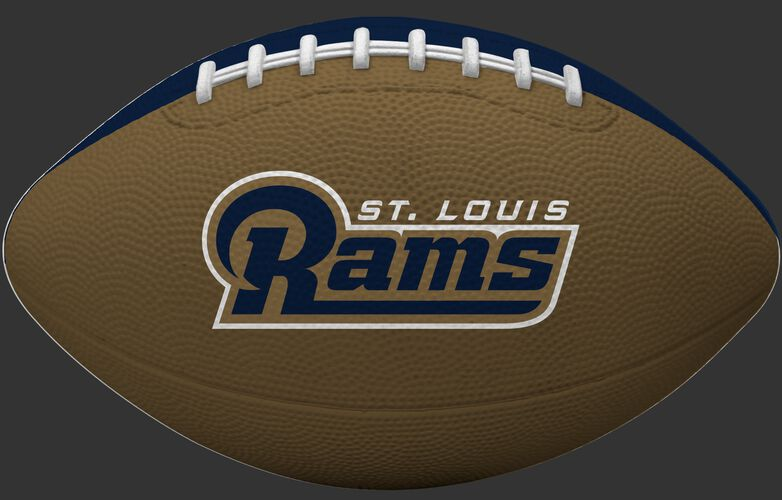 Gold side of a Los Angeles Rams Gridiron tailgate football with team name SKU #09501073123