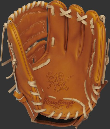 PRO206-9T 12-inch Heart of the Hide baseball glove with a tan palm and camel laces