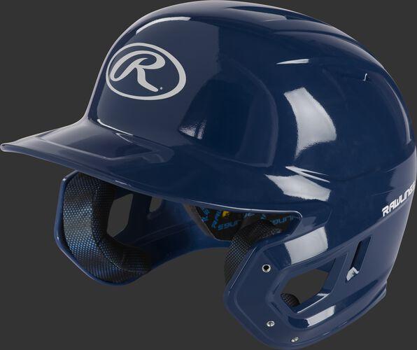 Rawlings Mach Gloss Batting Helmet Navy