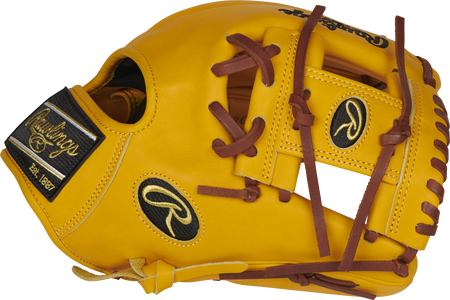 Thumb of a gold tan PROFL12-2GT Heart of the Hide 11.5-Inch infield glove with a gold tan I-web glove