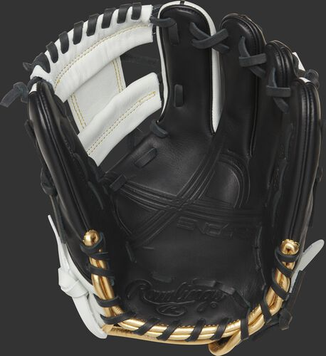 EC1150 Rawlings Encore youth baseball glove with a black palm and black laces