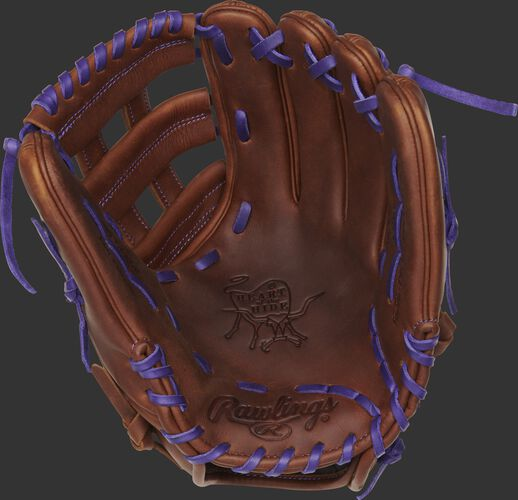 PRO206-6TIP Rawlings ColorSync 4.0 infield glove with a timberglaze palm and purple laces