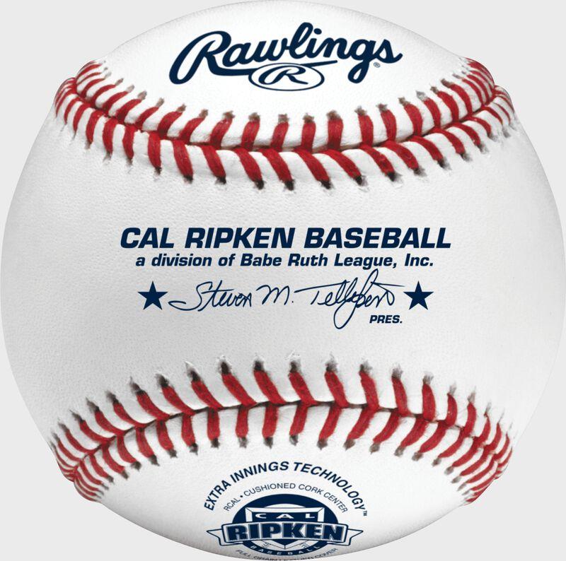 RCAL Cal Ripken youth tournament grade baseball with raised seams