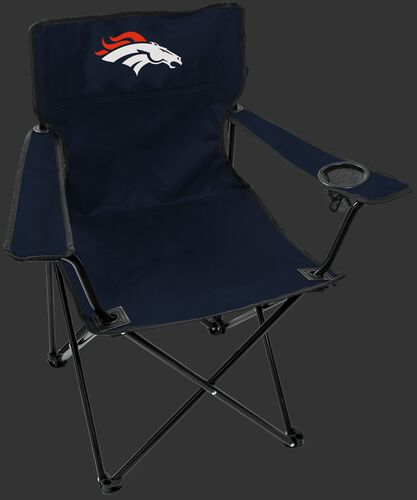 Front of Rawlings Navy Blue NFL Denver Broncos Gameday Elite Chair With Team Logo SKU #00551066111