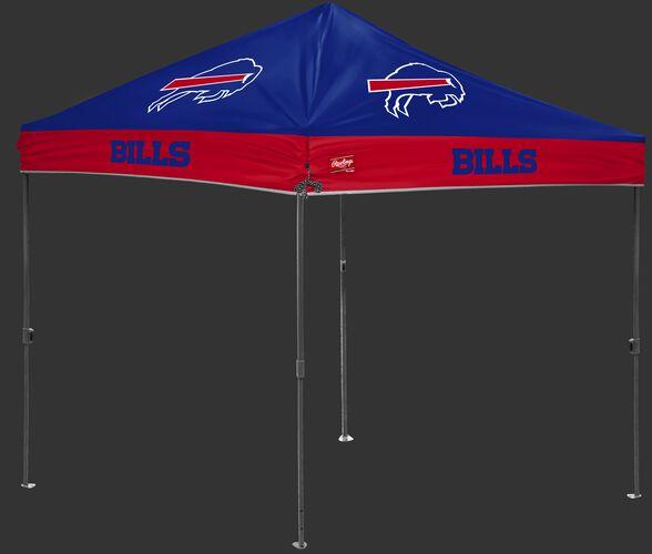 A blue/red NFL Buffalo Bills 10x10 canopy with team logos on each side - SKU: 02231061111