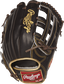 RGG3039-6MO 12.75-inch Gold Glove series outfield glove with a mocha back and gold binding image number null