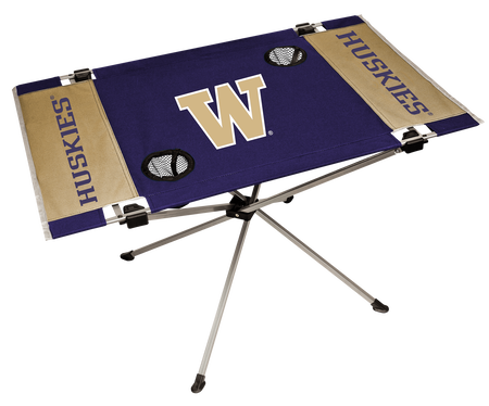 NCAA Washington Huskies Endzone table featuring team colors and team logos