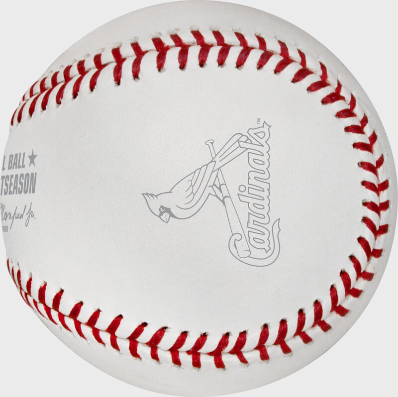 The St. Louis Cardinals logo stamped on the NLCS19DL Dueling 2019 NLCS baseball