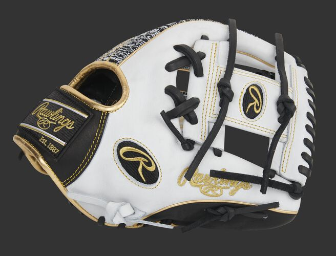Thumb of a white HOH exclusive 11.5-inch infield glove with a white I-web - SKU: PRO204-2WBZ