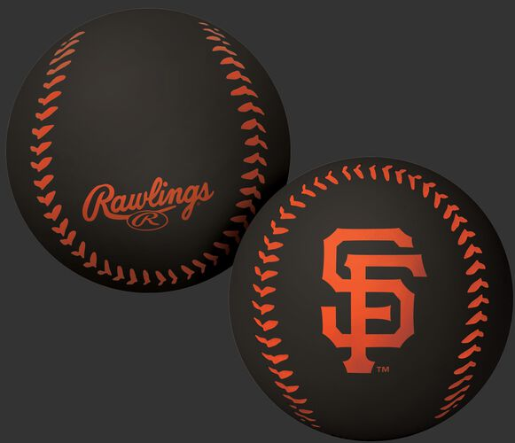 Rawlings San Francisco Giants Big Fly Rubber Bounce Ball With Team Logo on Front In Team Colors SKU #02870013112