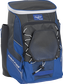 Front left angle of a royal Rawlings Impulse bag with gray accents - SKU: IMPLSE-R image number null