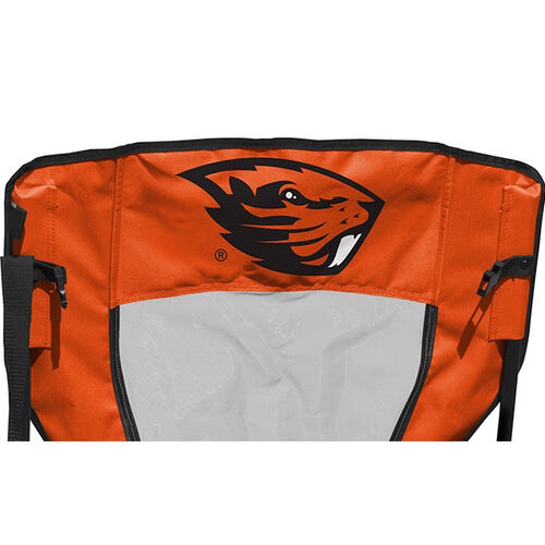 Back of Orange and Black NCAA Oregon State Beavers High Back Chair With Team Logo SKU #09403048518