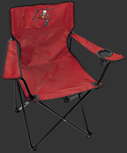 Front of Rawlings Red NFL Tampa Bay Buccaneers Gameday Elite Chair With Team Logo SKU #00551086111