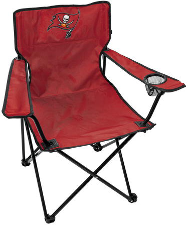 NFL Tampa Bay Buccaneers Gameday Elite Chair with team colors and logo on the back