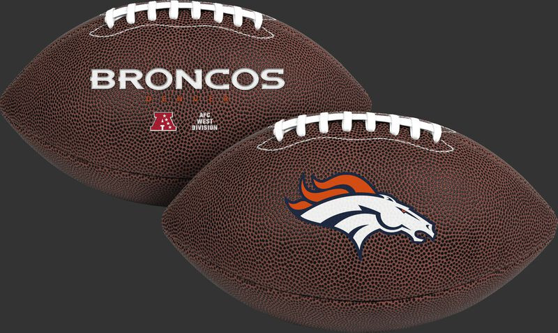 NFL Denver Broncos Air-It-Out youth football with team logo and team name SKU #08041066121