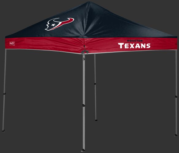A navy/red Houston Texans 9x9 shelter with a team logo on the left side - SKU: 03231093112