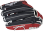 Navy back of a Breakout 12.75-Inch outfield glove - SKU: RSGBOYPT6-6NS image number null