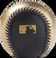 Gold MLB logo stamped on the black side of a gold/black MLB baseball - SKU: RSGEA-ROMLB/B-R image number null