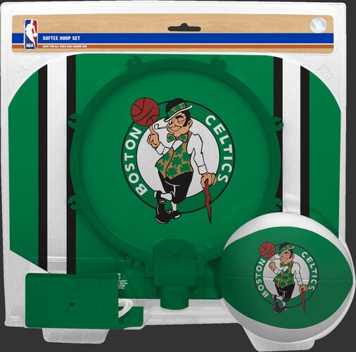 Rawlings Green and White NBA Boston Celtics Softee Hoop Set With Team Logo SKU #03544193114