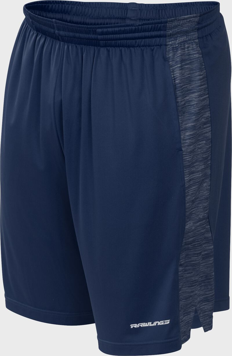 Front of Rawlings Navy Adult Launch Training Shorts - SKU #LS9