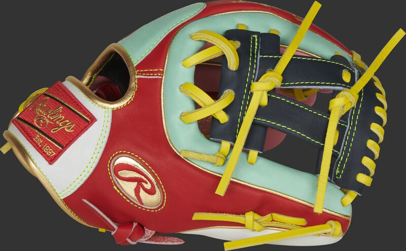 Thumb of a Gameday 57 Series Kolten Wong Heart of the Hide glove with a navy V-web - SKU: PRO314-7KW
