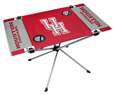 NCAA Houston Cougars Endzone table made with team colors and features team logos
