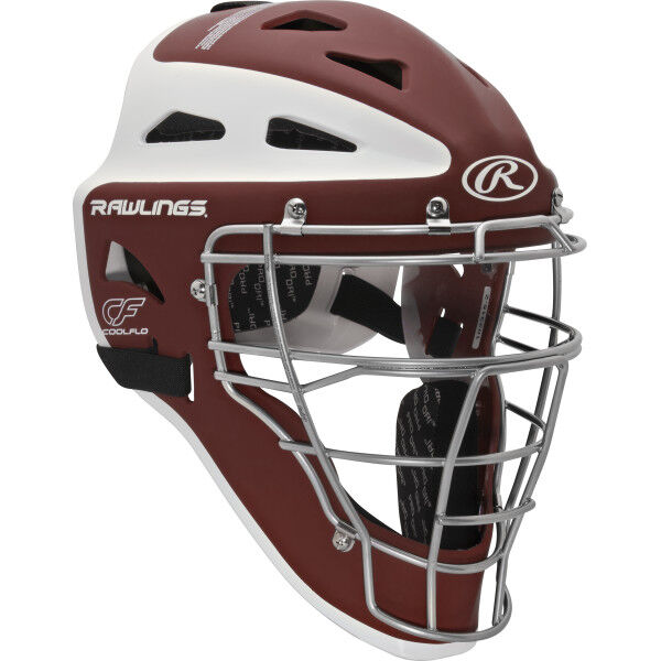 Velo Adult Catchers Helmet Cardinal/White