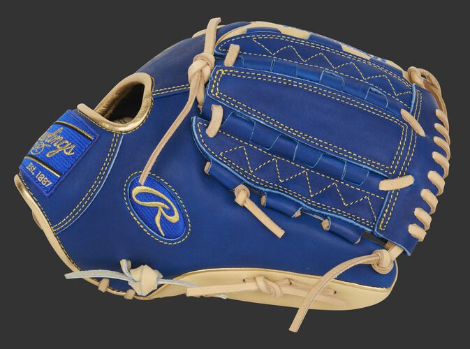 Thumb of an Exclusive Heart of the Hide infield/pitcher's glove with a royal vertical hinge web - SKU: PRO205W-12CR