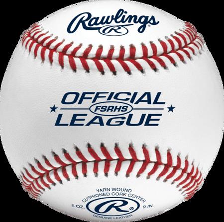 FSRHS High School Flat seam baseball with navy Official League logo