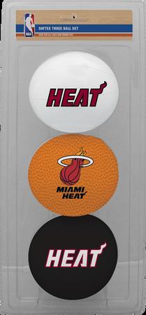 NBA Miami Heat Three-Point Softee Basketball Set