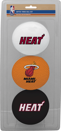 NBA Miami Heat Three-Point Softee Basketball Set
