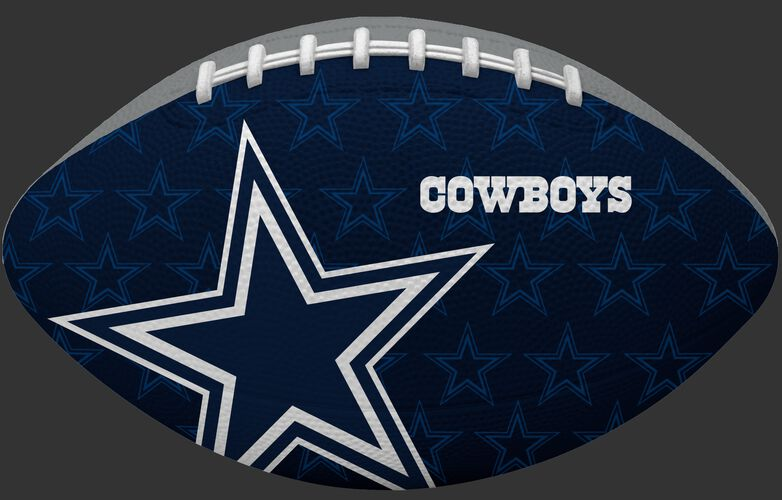 Navy blue side of a NFL Dallas Cowboys Gridiron football with the team logo SKU #09501065121