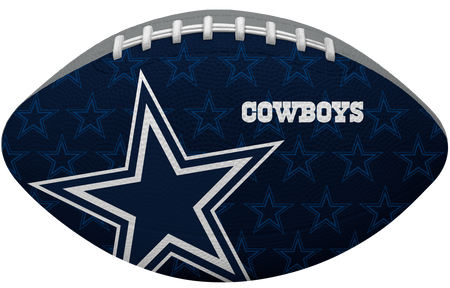 Navy blue side of a NFL Dallas Cowboys Gridiron football with the team logo