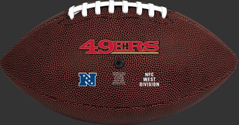 Brown NFL San Francisco 49ers Football With Team Name SKU #07081084811