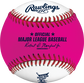 A pink/white MLB 2021 Home Run Derby money baseball with the official ball of MLB stamp - SKU: RSGEA-ROMLBMB21-R image number null