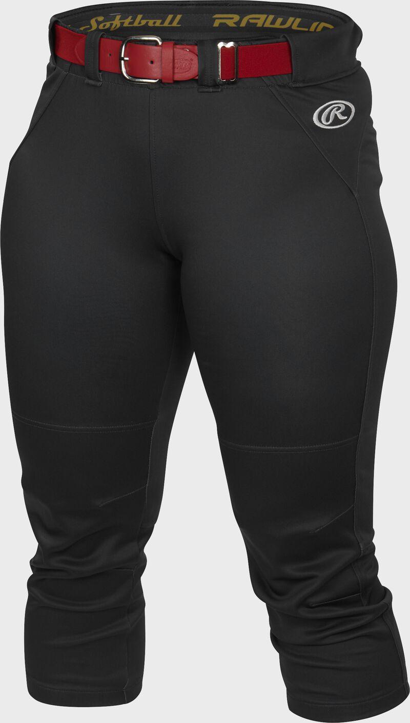 Front of Rawlings Black Women's Yoga Style Softball Pant - SKU #WYP