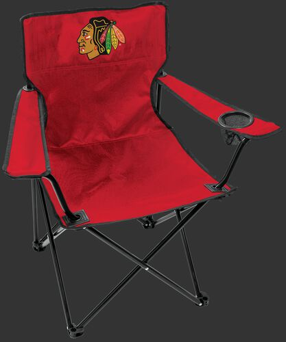 Front of Rawlings Red NHL Chicago Blackhawks Gameday Elite Chair With Team Logo SKU #00694114111